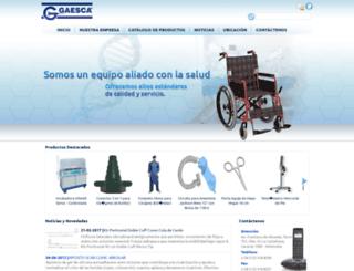 gaesca.com screenshot