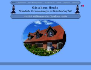 gaestehaus-henke.de screenshot