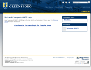 gafe.uncg.edu screenshot
