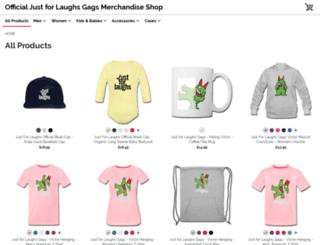 gags.spreadshirt.com screenshot