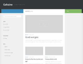 gahzine.se screenshot
