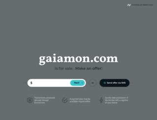 gaiamon.com screenshot