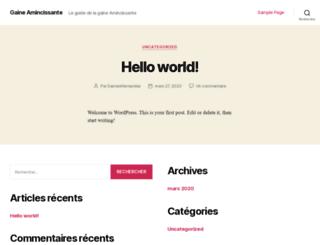 gaine-amincissante.com screenshot