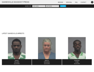 gainesville.mugshot.press screenshot