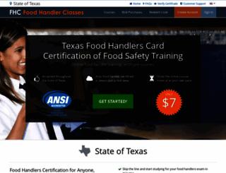 gainesvilletx.foodhandlerclasses.com screenshot