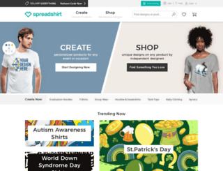 gainingtheathleticedge.spreadshirt.com screenshot