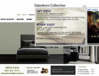 gainsborocollection.com screenshot