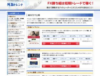 gaitame-trend.jp screenshot