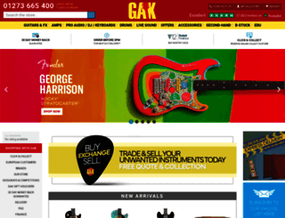 gak.co.uk screenshot