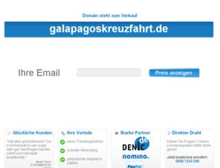 galapagoskreuzfahrt.de screenshot
