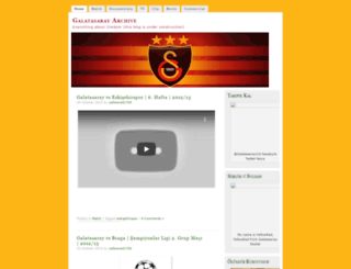 galatasarayarchive.wordpress.com screenshot