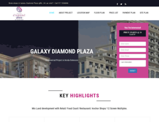 galaxydiamondplazanoida.in screenshot