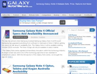 galaxynote4news.com screenshot