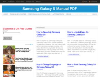 Access galaxys5manualpdf com  SAMSUNG GALAXY S5, S6, S7, S8