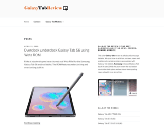 galaxytabreview.com screenshot