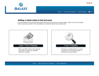 galaxytech.4myrebate.com screenshot