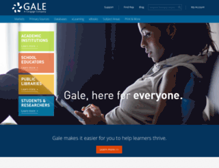 galegroup.com screenshot