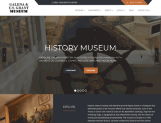 galenahistory.org screenshot
