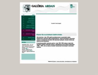 galeria-ardan.sk screenshot