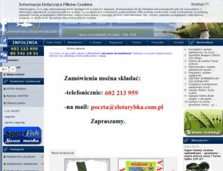 galeria.zlotarybka.com.pl screenshot