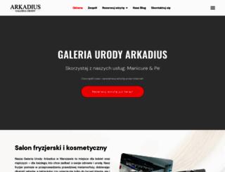 galeriaarkadius.pl screenshot