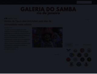 galeriadosamba.com.br screenshot