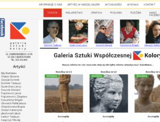 galeriatrzykolory.pl screenshot