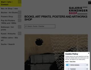 galerie-krinzinger-shop.at screenshot