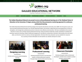 galileo.org screenshot