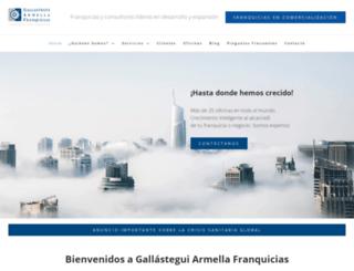 gallasteguifranquicias.com screenshot
