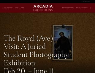 gallery.arcadia.edu screenshot