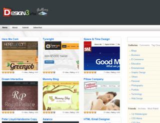 gallery.design3edge.com screenshot