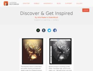 gallery.sketchbook.com screenshot