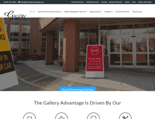 gallerydigitalsignage.com screenshot