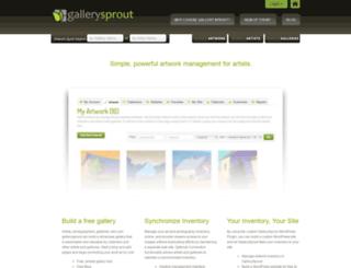 gallerysprout.com screenshot
