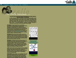 galloinstitute.org screenshot
