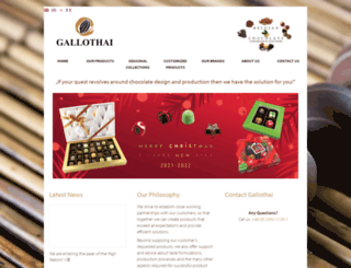 gallothai-chocolate.com screenshot