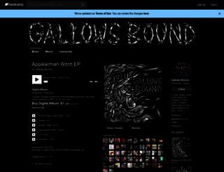 gallowsbound.bandcamp.com screenshot