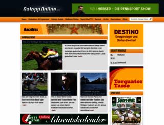 galopponline.de screenshot
