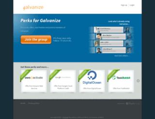 galvanize.perkhub.com screenshot