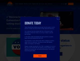galvestoncountydemocraticparty.com screenshot