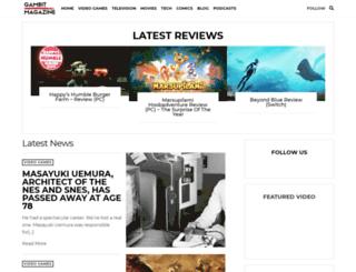 gambitmag.com screenshot