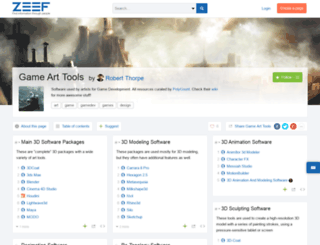 game-art-tools.zeef.com screenshot