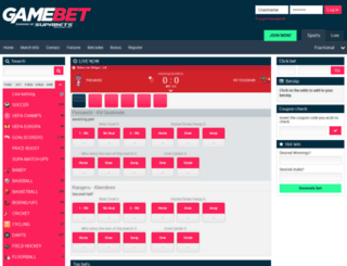 gamebet.co.za screenshot