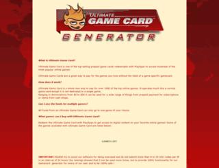 gamecard-generator.blogspot.com screenshot