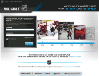 gamecenter.nhl.com screenshot