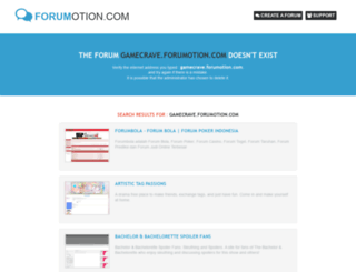 gamecrave.forumotion.com screenshot