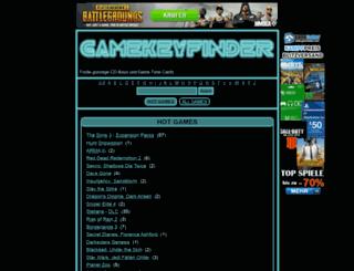 gamekeyfinder.de screenshot