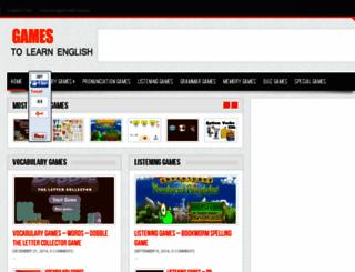 gamelearnenglish.com screenshot