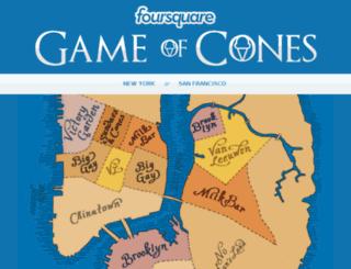 gameofcones.foursquare.com screenshot